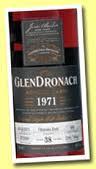 GlenDronach 1971 39 years old Sherry Butt