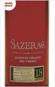 Sazerac Kentucky Straight Rye Whiskey 18 years old