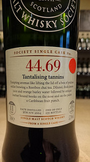 SMWS 44.69 Tantalizing tannins