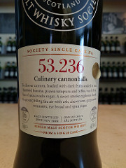 SMWS 53.236 Culinary cannonballs